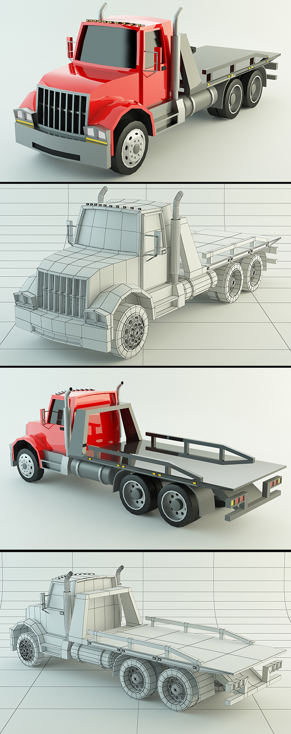 3DOcean Low Poly Tow Truck 20079014