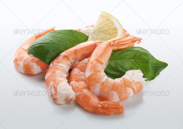 Shrimps tailes - Stock Photo - Images