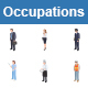 Occupations II Color Vector Icons