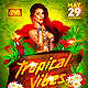Tropical Vibes Party Flyer