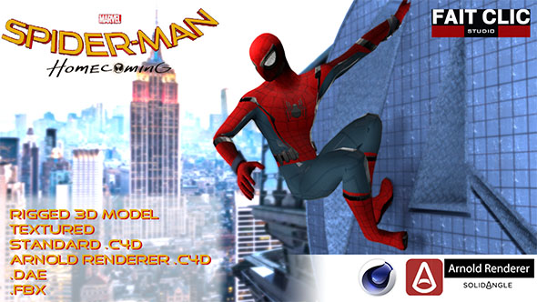 3DOcean Spiderman Homecoming 20080447