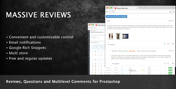 Prestashop Reviews, Questions and Multilevel Comments