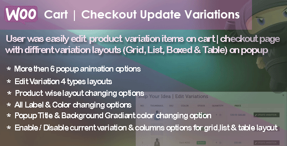 WC Cart | Checkout Update Variations