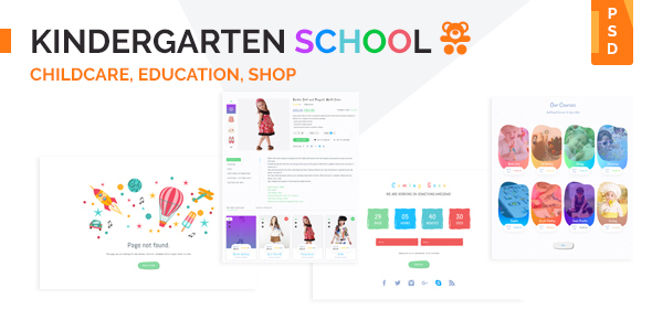Kindergarten School PSD Template