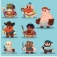 Cartoon Aborigine, Shaman Pirate Game Sprite