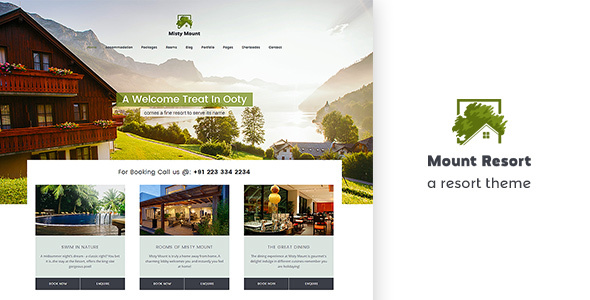 Mount Resort | Hotel, Resort WordPress Theme