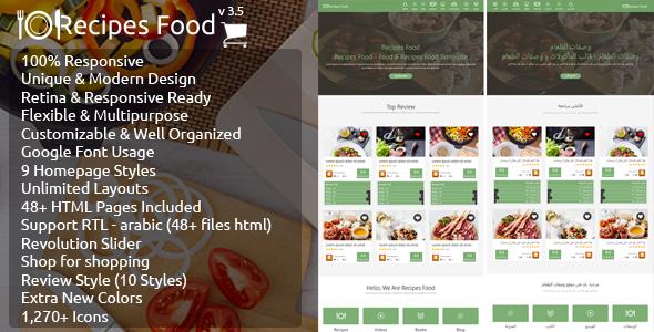Recipes Food - Food Recipes HTML Template