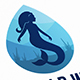 Mermaid Water Logo Template
