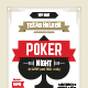 Poker night poster template