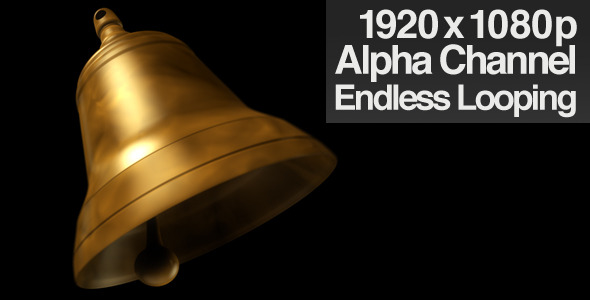 VideoHive Single Bell Ringing Alpha Channel & Loop 1965902