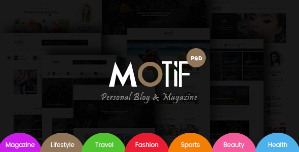 Motif - Multi-Demo Blog & Magazine PSD Template