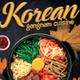 Korean Food Restaurant Poster / Flyer Template
