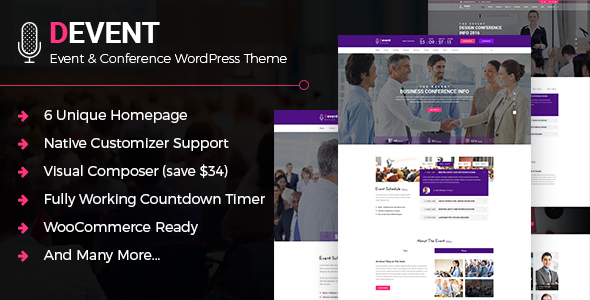 D Event - Event & Conference WordPress Theme