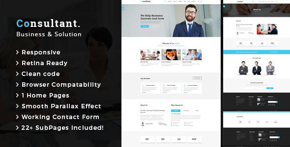 Download Consultant - Business Consulting and Professional Services HTML Template