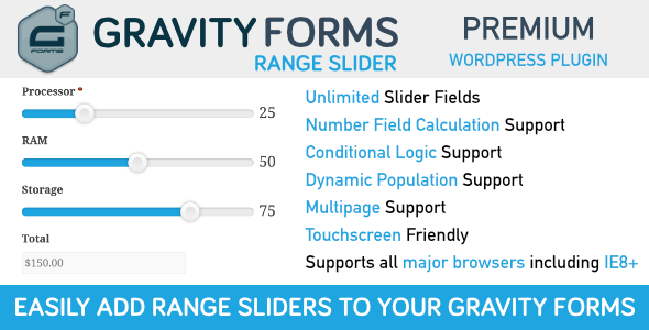 Gravity Forms Range Slider - CodeCanyon Item for Sale
