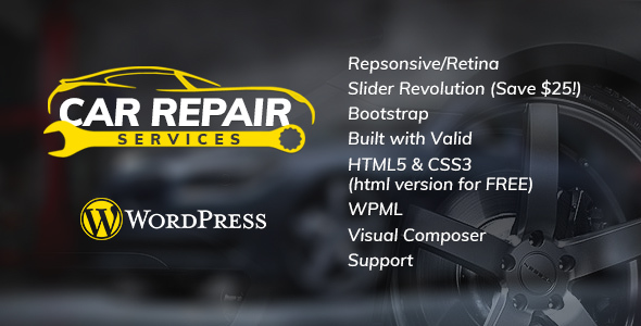 Car Repair Services & Auto Mechanic WordPress Theme (Business) images