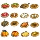 Vector Set of Delicious Food and Leftovers