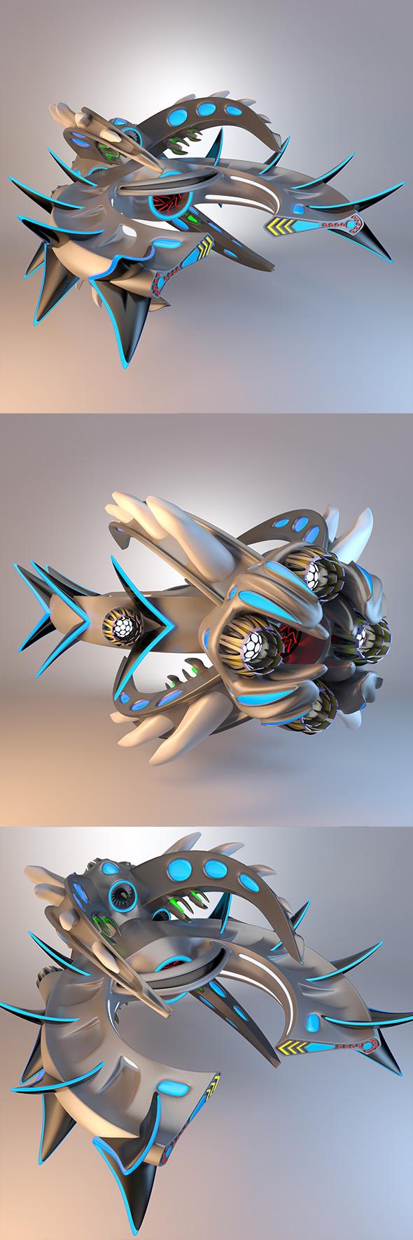 3DOcean Destroyer Spaceship Concept 20087811