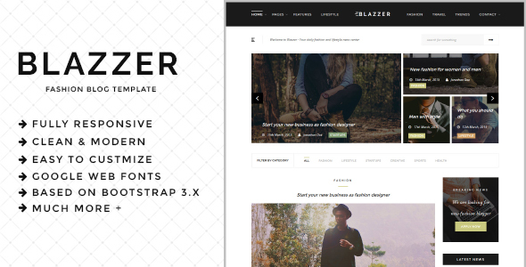 Image of Blazzer - Personal/Fashion Blog HTML5 Template