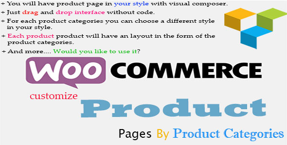 Customize Product Pages By Product Categories For Visual Composer