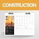 Construction Desk Calender 2018
