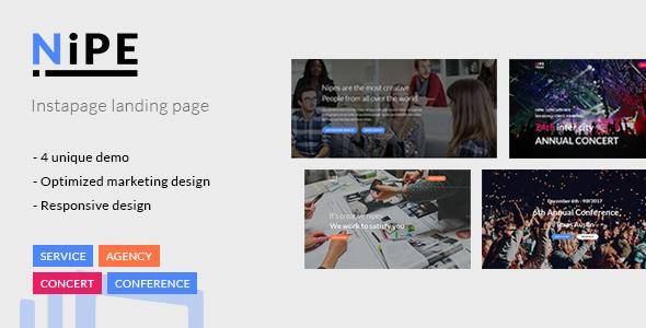 Nipe - Instapage Landing Page