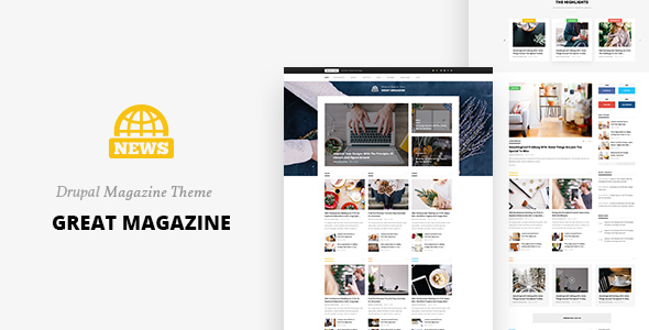 Great Magazine - Responsive Magazine News Drupal 8 Theme