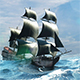 Pirate Ship. Version 2 (Pack of 2)
