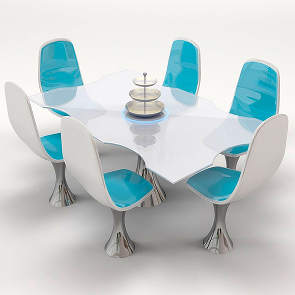 3DOcean Chair and Table 20092483