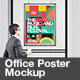 Office Poster Mockup