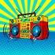 Boombox Comic Book Style Vector Illustration