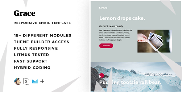 Grace – Responsive Email + StampReady Builder
