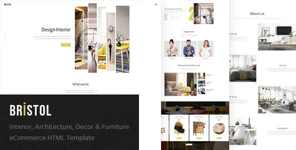 Bristol - Interior / Architecture / Decor & Furniture eCommerce HTML Template