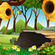 Bee Cartoon Background 2