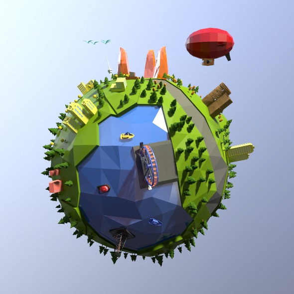 3DOcean Low poly world 20097539