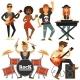 Rock Music Band Singer
