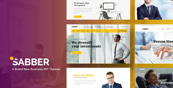 Sabber – Highly Customizable Financial & Business WordPress Themes (Business) images