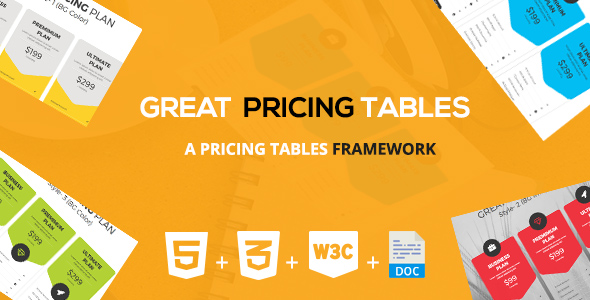 Great Pricing Tables Framework