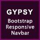 GYPSY - Bootstrap Responsive Navbar