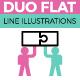 Flat Line Web Banner Illustrations