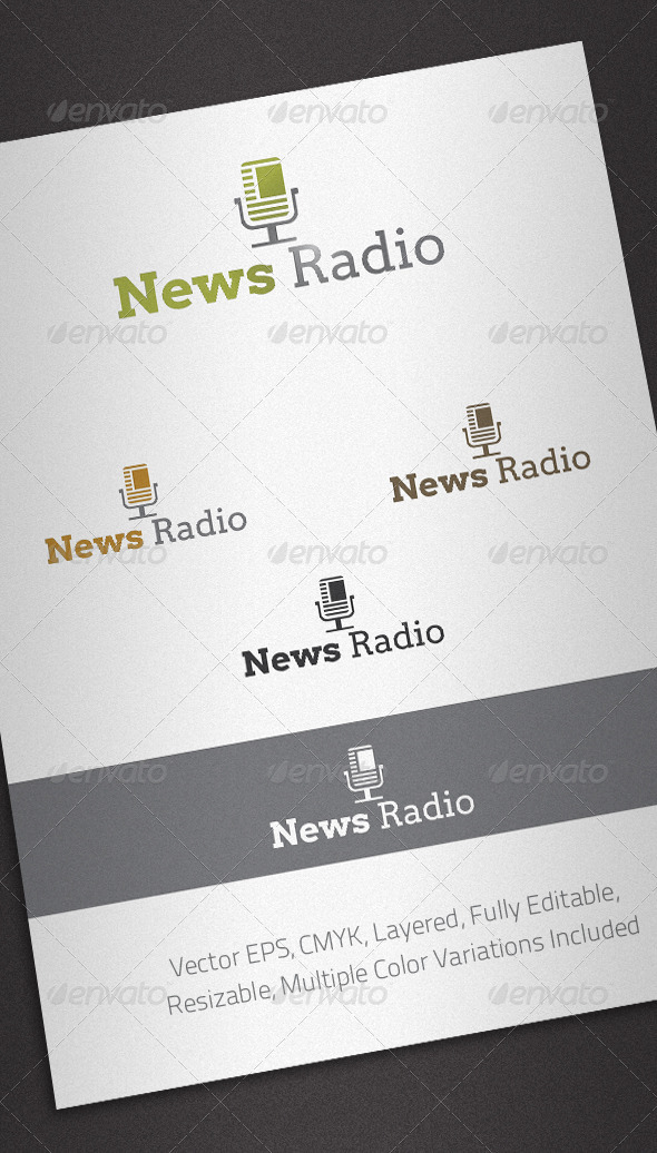 GraphicRiver News Radio Logo Template 1967417