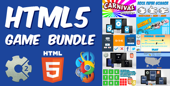 HTML5 Games Bundle - 10 Casual HTML5 Games