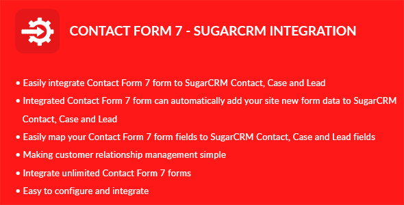 Contact Form 7 – Sugar CRM Integration (Add-ons) images