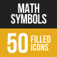 Math Symbols Filled Low Poly B/G Icons