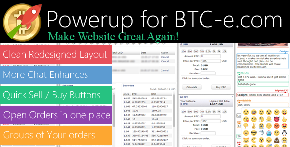 CodeCanyon Powerup for BTC-e.com Make Website Great Again Standard 20101477