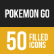 Pokemon Go Filled Low Poly B/G Icons