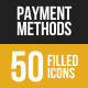 Payment Methods Filled Low Poly B/G Icons