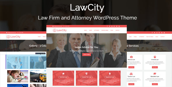 Download LawCity - Law Firm and Attorney WordPress Theme