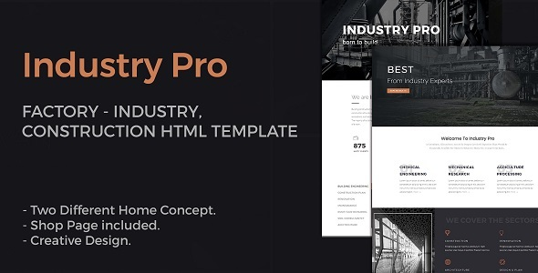 IndustryPro - Factory, Industrial, Construction Business HTML Template