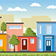 Modern Colorful Houses Seamless
